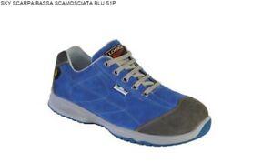 Scarpa Bassa Sky Blu S1p Logica Scamosciata Antinfortunistica rq01wnvr