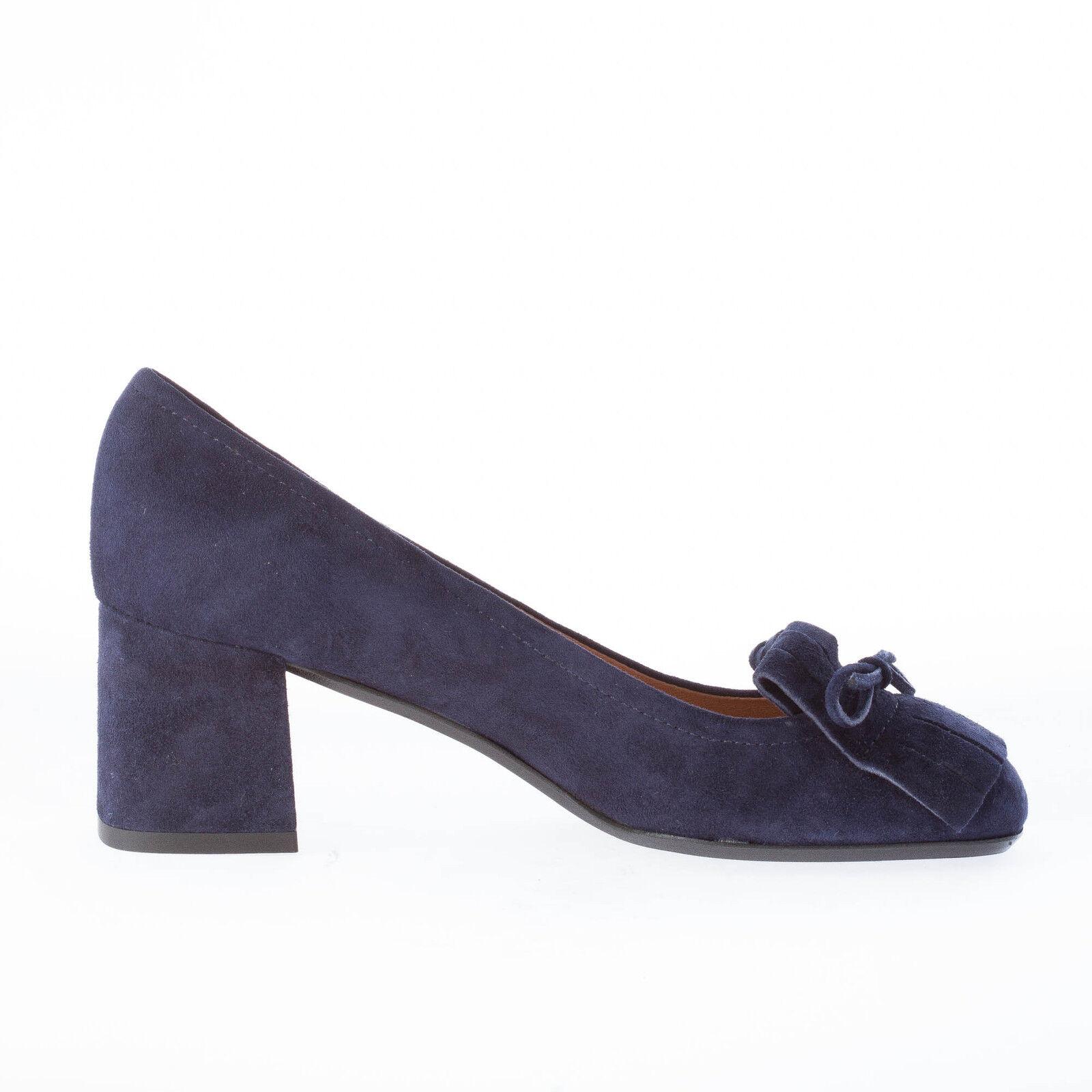 IL BORGO FIRENZE damen Damens schuhe Damens damen made in  Blau suede pump fringe bow 693094