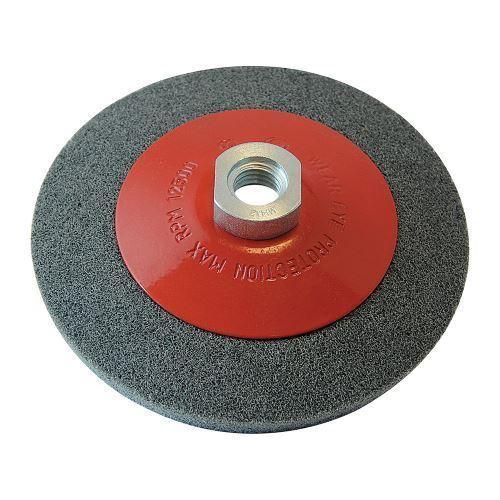 Angle Grinder Bevelled Abrasive Metal Sanding Wheel 115mm Silverline