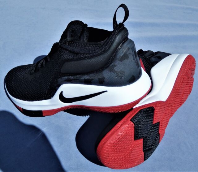 0d82561c4bcc6 Nike Lebron James Witness II Black White Red Shoes Sz 10 for sale ...
