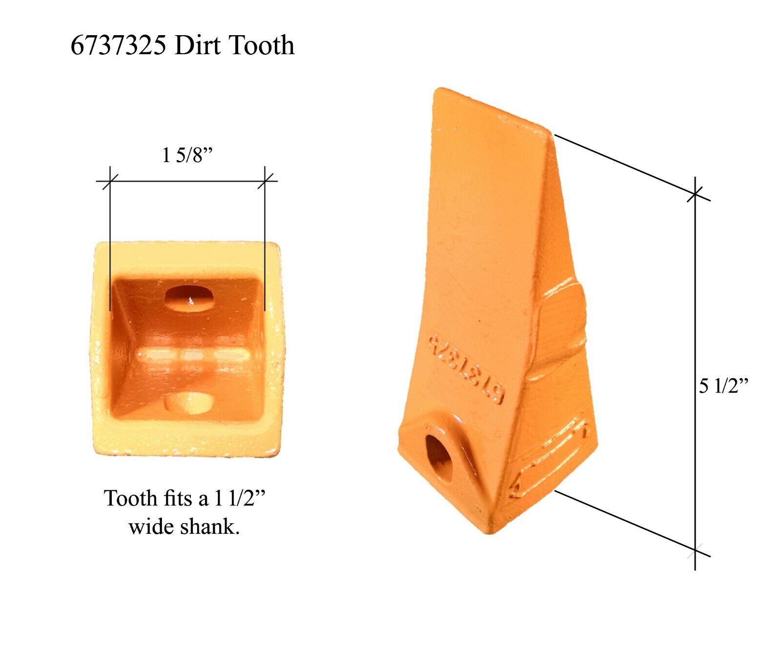 8 Bobcat Style Mini Excavator Skid Steer Bucket Dirt Tooth /& Pin 7107319