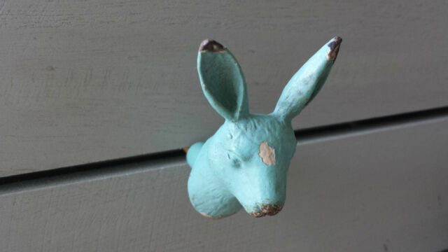 Vintage French Chic Drawer Pull Handle Knob Shabby Paint Rabbit Dog Bird Knobs