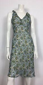 Blunauta-abito-vestito-seta-floreale-estivo-42-leggero-usato-donna-vintage-T1879