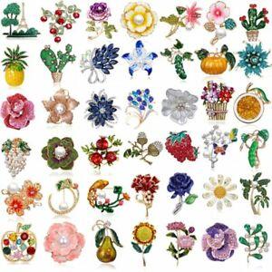 Charm-Wedding-Birdal-Bouquet-Crystal-Rhinestone-Flower-Brooch-Pin-Jewelry-Gifts