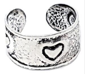 Ear-Cuff-Love-Hearts-Earring-925-Sterling-Silver-Earcuff-Boho-Ethnic-Hippie