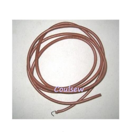 SEWING MACHINE 5mm TREADLE BELT REAL LEATHER WITH HOOK FITS SINGER