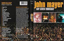 John Mayer - DVD - Any Given Thursday - Live 2002 - DVD von 2003 - Neuwertig !