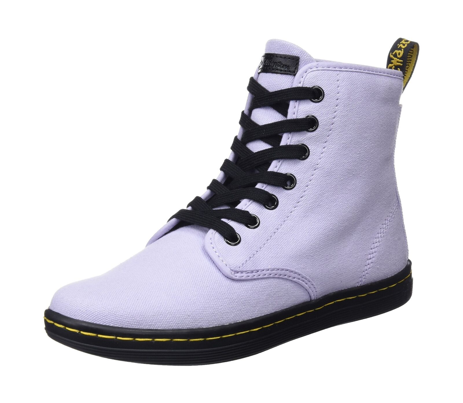 DR. Martens Da Donna Shoreditch Hi-Top Scarpe Da Ginnastica Viola (viola Heather 513) 6 UK