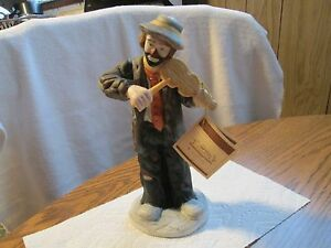 Emmett Kelly Jr Large Figurine COTTON CANDY by sumpnsassy on Etsy, $95.00