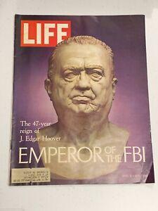 Vintage LIFE Magazine April 9, 1971 J. Edgar Hoover Emperor Of The FBI