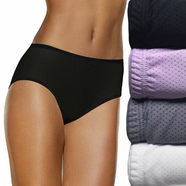 ee1eab6f52b7 Fruit of the Loom 5 Breathable Micro Mesh Low Rise Briefs Womens SM Colors  VARY