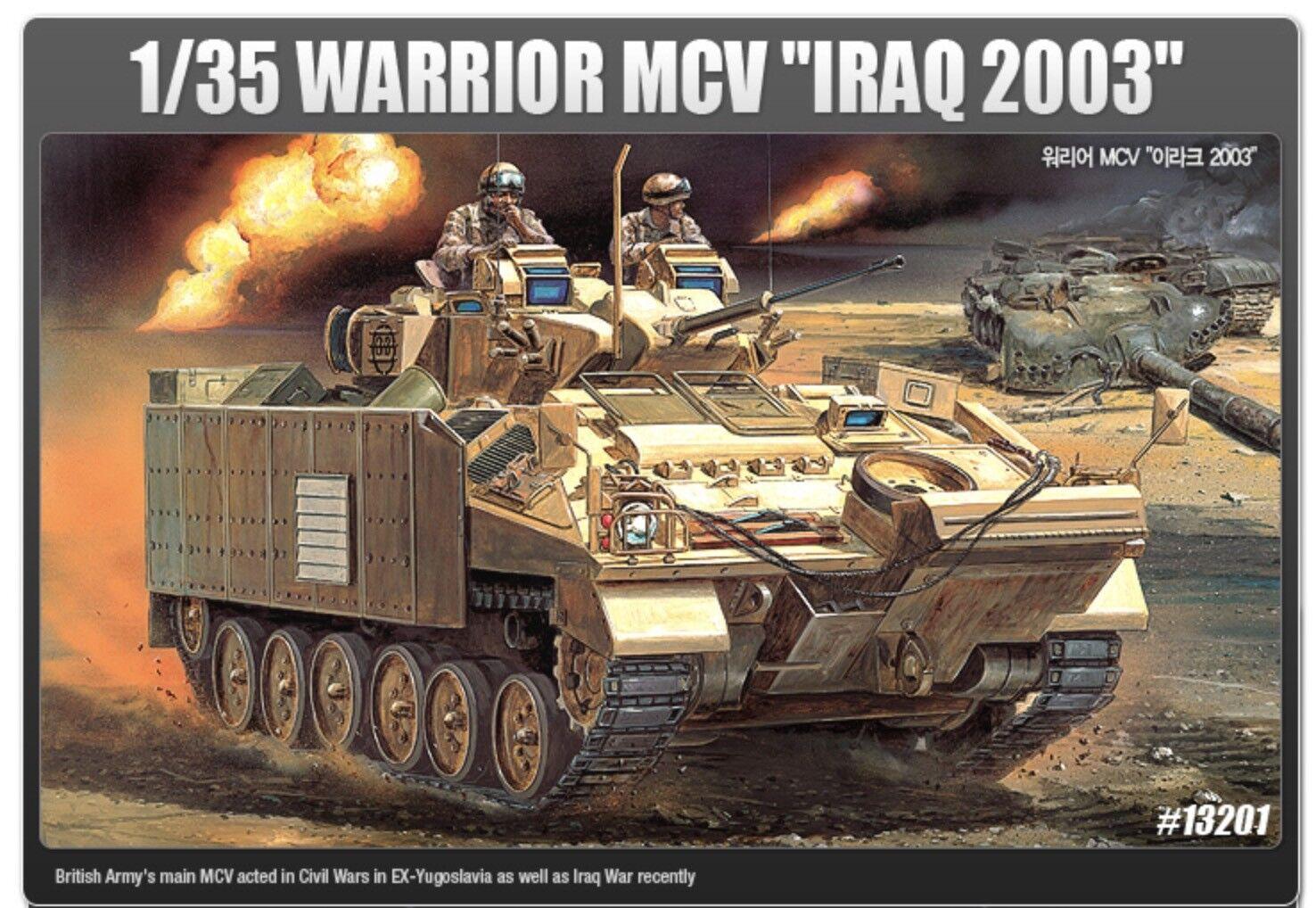 ACADEMY  35 Plastic Model Kit Warrior MCV Iraq 2003 England Tank