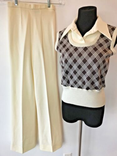 Vintage 1970s JCPenney Pants Sweater Top Dickie Se
