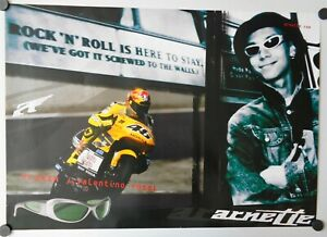 Vintage Original Poster 2002 Valentino Rossi Honda NSR 500cc Arnette MotoGP