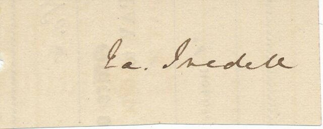 James Iredell Jr. - Signature of the Governor of North Carolina