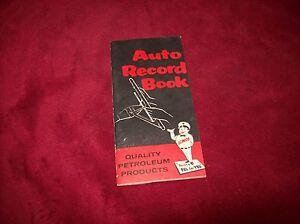 vintage elreco auto service record book 1957 58 calendar nos ebay