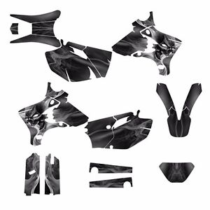 2003-2004-WR250F-WR450F-Graphics-Decal-Kit-6666-Metal-Skull-Free-Custom-Service