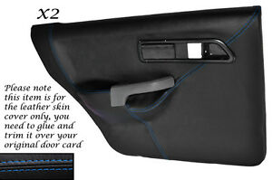 BLUE-STITCH-2X-REAR-DOOR-CARD-COVERS-FITS-FORD-SIERRA-SAPPHIRE-RS-COSWORTH