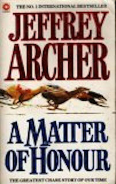 A Matter of Honor by Jeffrey Archer (Paperback / softback, 1987)