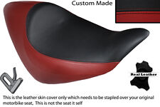 DARK RED & BLACK CUSTOM FITS HONDA NRX RUNE 1800 SOLO LEATHER SEAT COVER