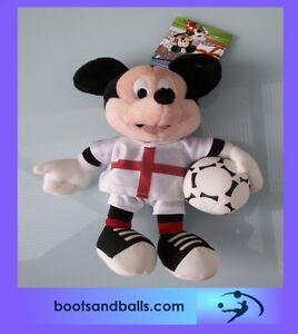 acc519-Brand-New-Disney-mickey-mouse-england-footballer-plush-toy-BNWT