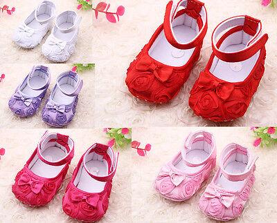 Newborn Baby Girls Crib Shoes First Walkers Prewalkers Flower Infantil Sapatos