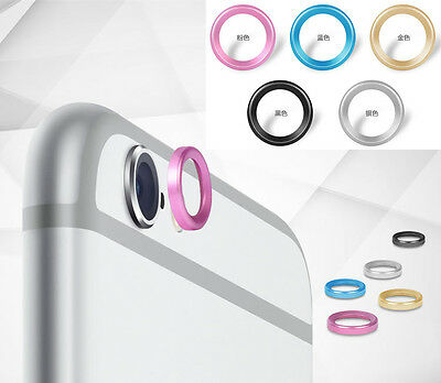 5 color Camera Lens Protector Metal Case Cover Installed Ring Circle for iphone