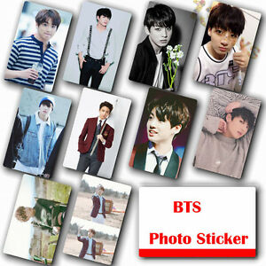 10Pcs-Set-Kpop-Bangtan-Boys-JUNG-KOOK-HD-Photocard-Crystal-Card-Sticker