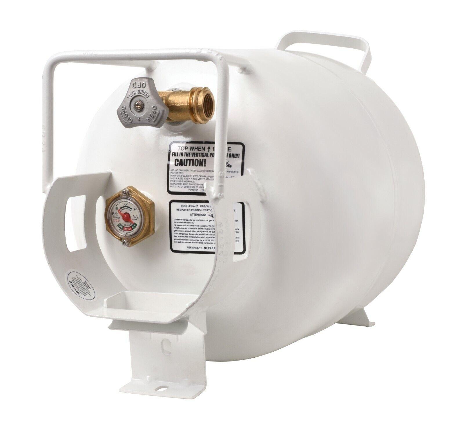 Flame King 40 Pound Steel Propane Tank Cylinder//Regulator//Mounting Rack Kit
