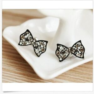 Image Is Loading New Design Erfly Swarovski Element Crystal Bow Knot