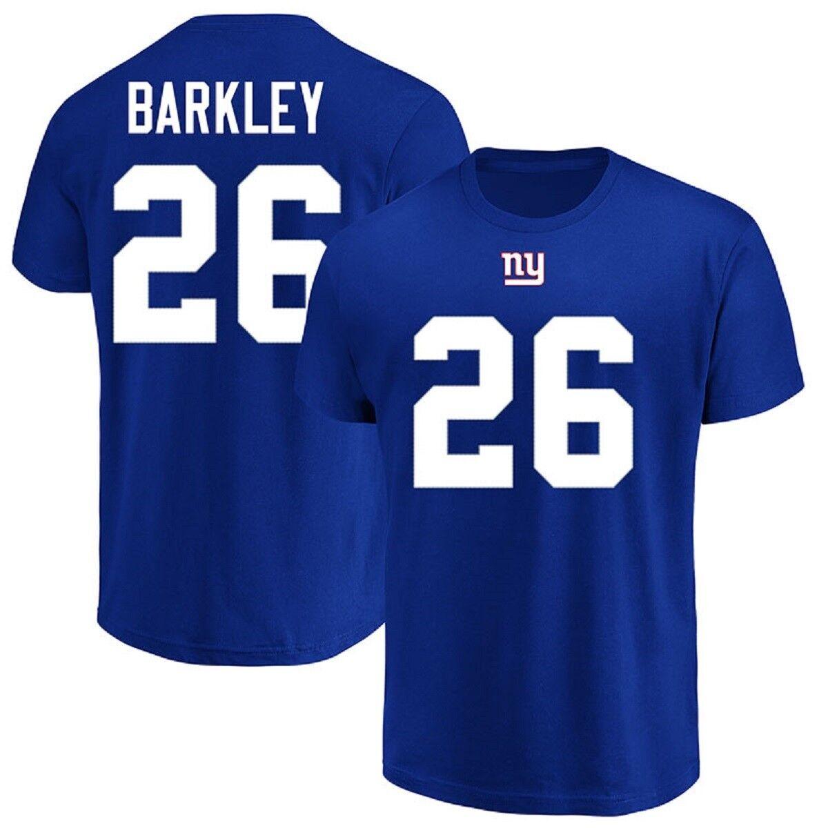 NFL T-shirt Nuovo York Giants saquon Barkley 26 BLU er3 Receiver Maglia Jersey