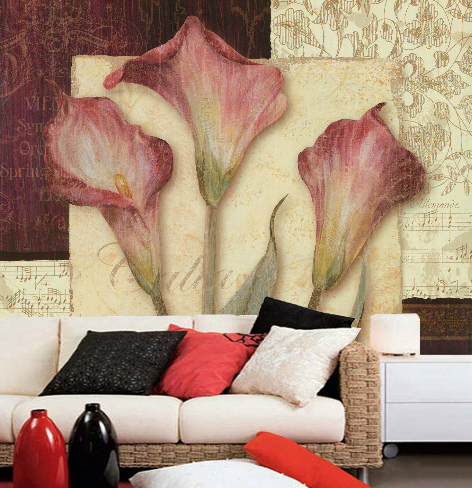 3D Floral pattern 2936 Paper Wall Print Decal Wall Wall Mural AJ WALLPAPER GB