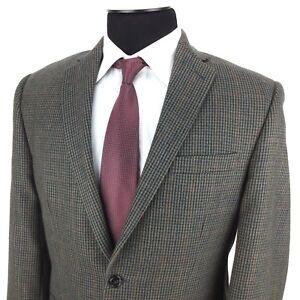 RALPH-LAUREN-Mens-40R-Green-Blue-Red-Houndstooth-2-Button-Wool-Sport-Coat-Jacket