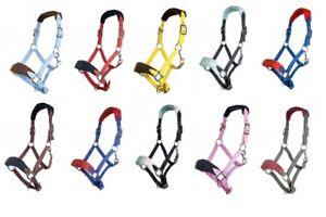 Nylonhalfter-mit-weicher-Polarfleece-Polsterung-HKM-verschiedene-Farben-NEU