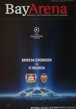 Programm UEFA CL 2011/12 Bayer Leverkusen - FC Valencia