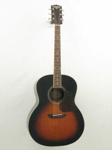 washburn lakeside jumbo acoustic guitar with hard case lsj743stsk for sale online ebay. Black Bedroom Furniture Sets. Home Design Ideas