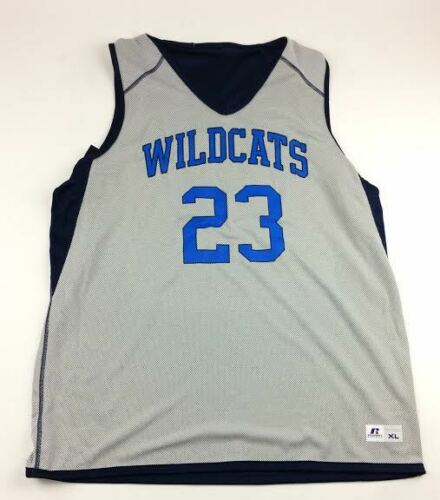 Russell Athletic Wildcats Reversible Basketball Jersey Men/'s Large Navy White