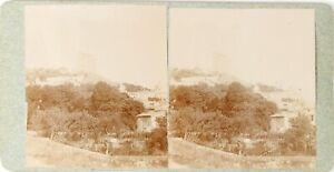 Francia-Crest-Vista-Da-La-Gare-Foto-Stereo-Vintage-Citrato-PL62L11