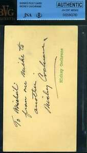 Mickey-Cochrane-Jsa-Beckett-Coa-Autograph-3x5-Index-Card-Hand-Signed-Authentic