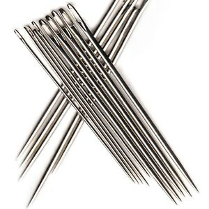 Bookbinding Needles - 5 Standard + 5 Large for all weights of bookbinding thread 3551234141993