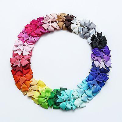 Women Headwear 40pcs/lot Baby Girl Grosgrain Ribbon Boutique Hair Bows For Teens