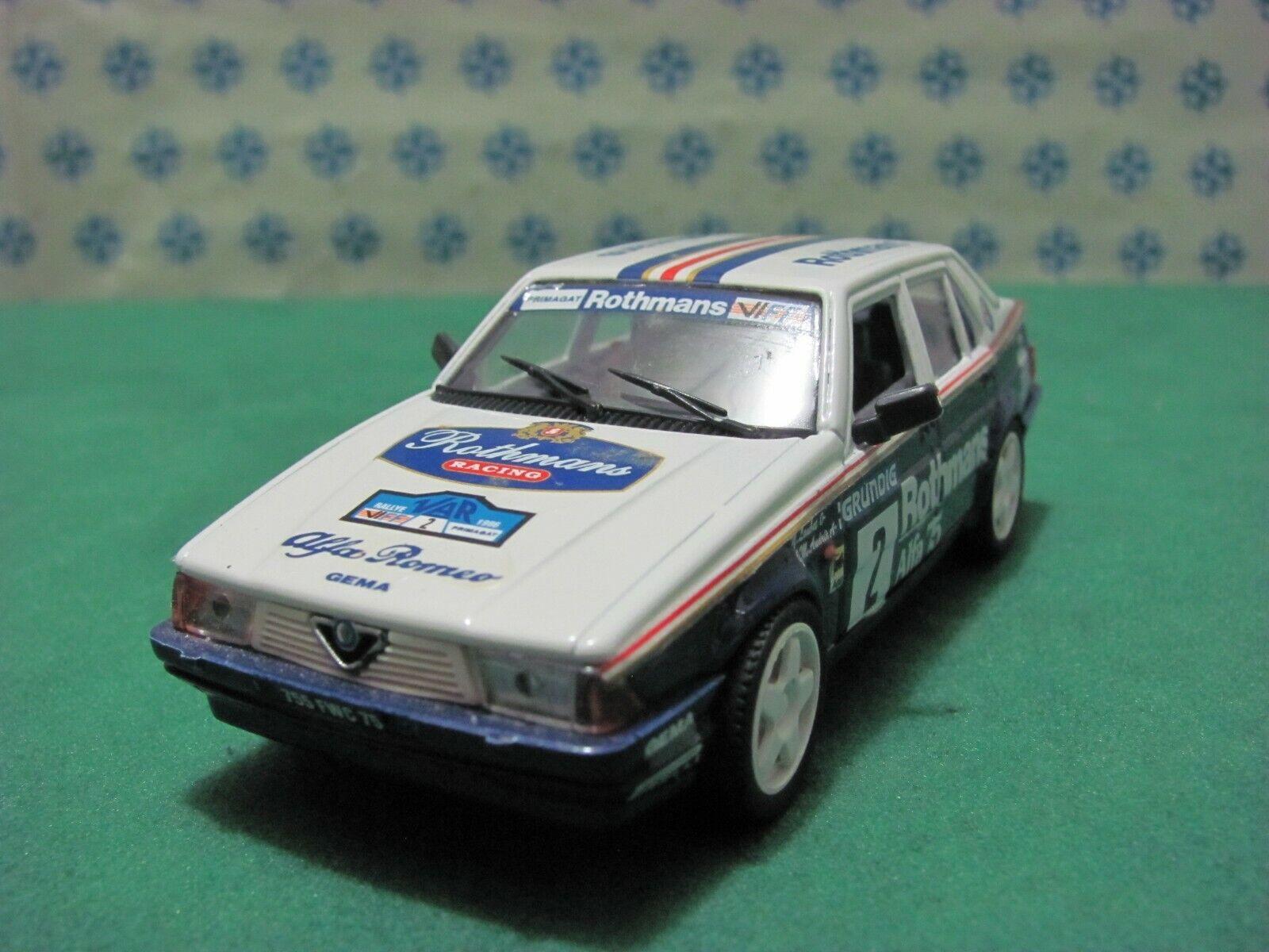 ALFA ROMEO  75  1800 i Turbo  Rothmans  Rally du Var 1989  - 1 43 PK  2011  MIB