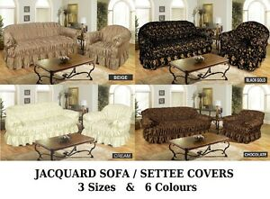 Jacquard Sofa Cover Settee Cover Available In 1 2 3 Seater