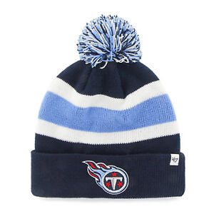 295ae7ee266 ... one size fits all tennessee titans nfl reebok adjustable navy blue hat  cap 61776 e81a8  canada image is loading 47 brand tennessee titans beanie  hat nfl ...