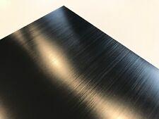 Aluminum Sheet Black Anodize Brushed Finish 2pc