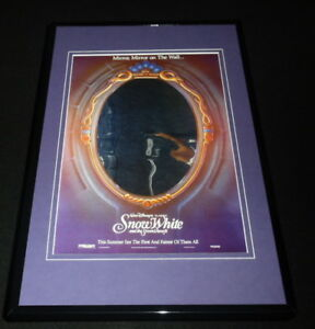 Snow White and the Seven Dwarfs Mirror Mirror Framed 11x17 ...