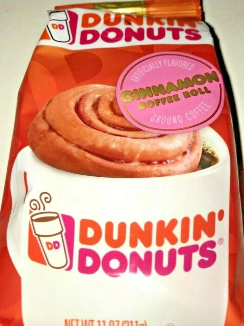 Dunkin Donuts Bakery Series Ground Coffee, Cinnamon Roll ...