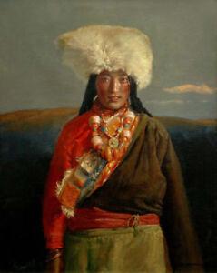 100-hand-paint-minority-tibet-girl-portrait-oil-painting-art-on-canvas