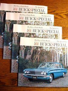 1961-Buick-Special-Brochure-LOT-4-pcs-12-pgs-Xlnt