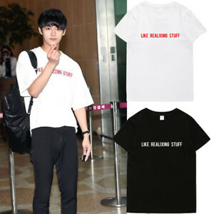 KPOP-Seventeen-JUN-T-shirt-Airport-Fashion-Tshirt-17-Summer-Letter-Tee-D176